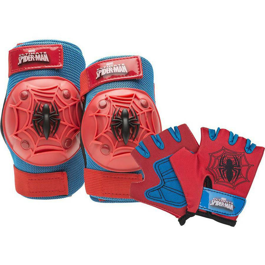 Bell Sports Spider-Man Protective Gear Pad Set, Red and Blue