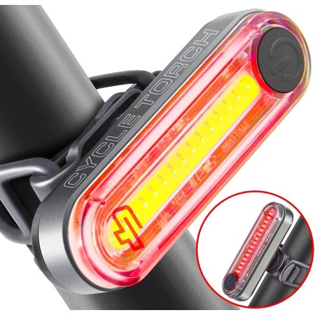 Cycle Torch Fire Stick USB Rechargeable Bike Tail Light, RED Rear Bicycle Light, Super-Bright LED Tailllight, Universal Compatibility, Easy to