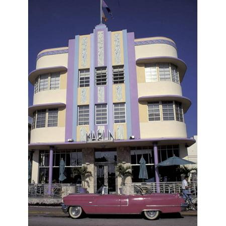 Clic Cadillac At The Marlin South Beach Miami Florida Usa Print Wall Art By Robin Hill