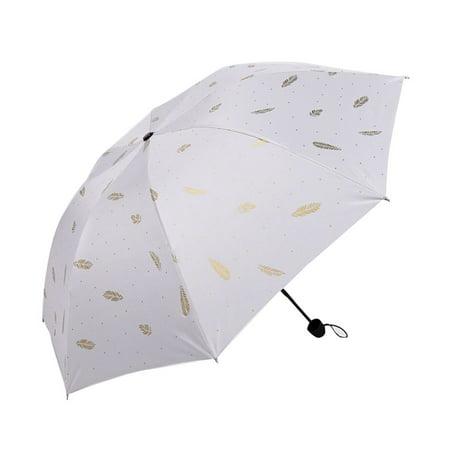 Cute Printing Umbrella Men and Women Folding Umbrella Black Glue Umbrella Dual-use Sunscreen Anti-UV Umbrella Dual Function Umbrella