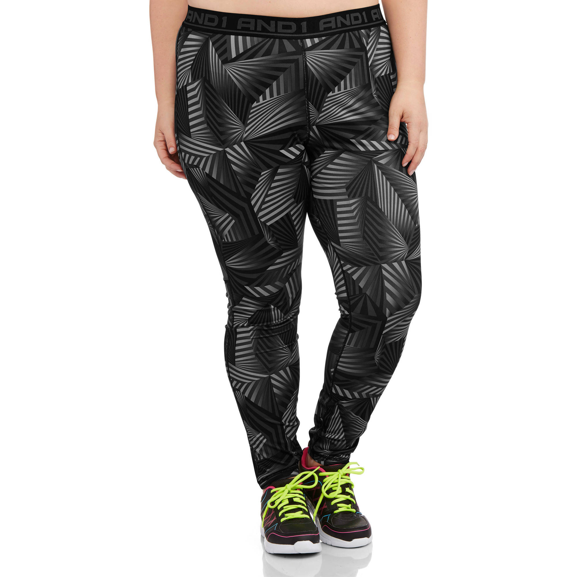AND1 Women's Plus-Size Triumph Legging Printed Sidelines