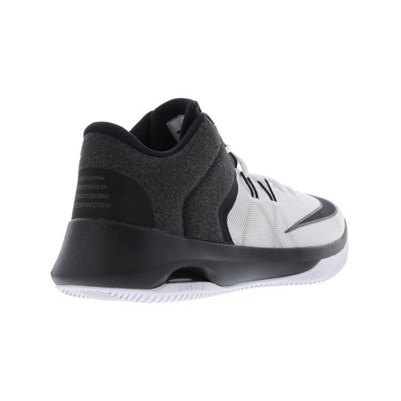 6c8aa5e813572 Nike Men's Air Versitile Ii White / Black Ankle-High Basketball Shoe ...