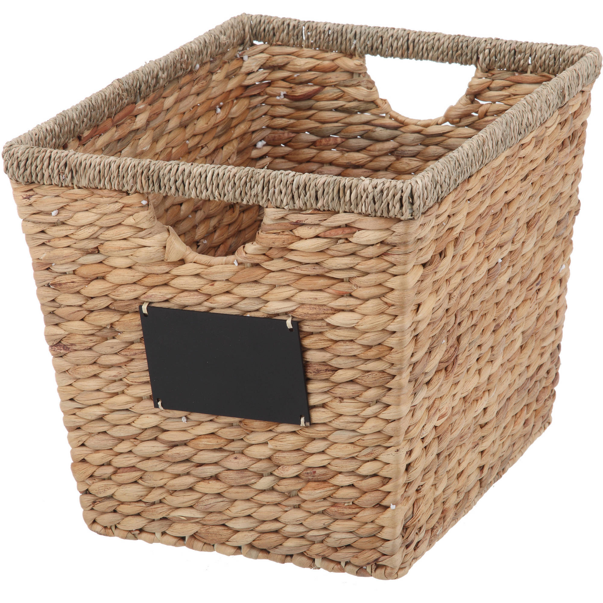 Better Homes And Gardens Hyacinth Twist Rectangle Basket - Walmart.Com