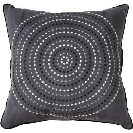 Decorative Pillows With Circles : Hometrends Circles Collection Square Decorative Pillow - Walmart.com