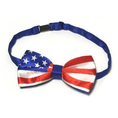 Midlee USA Flag Dog Bow Tie 14-18 Necks ()