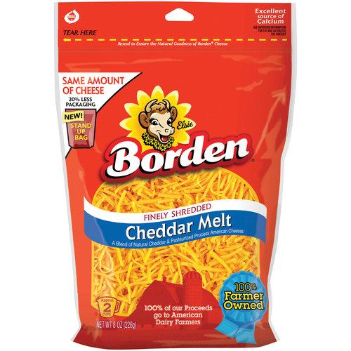 Borden Cheddar Melt Finely Shredded Cheese, 8 oz