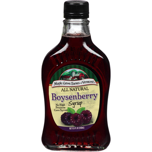 Maple Grove Farms of Vermont Boysenberry Syrup, 8.5 fl oz, (Pack of 6)