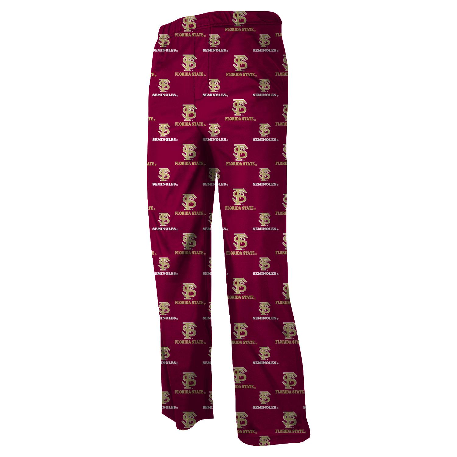 Florida State Seminoles Youth NCAA Printed Logo Pajama Pants by Outerstuff