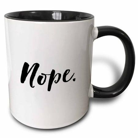 3dRose Humorous Phrase - Nope - Two Tone Black Mug, 11-ounce](Phrase Humour Halloween)