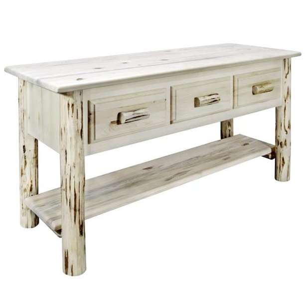 Montana Woodworks Mwcontblw3dr Montana Collection Console Table With 3 Drawers 5 5 X 11 75 X 10 5 In Walmart Com Walmart Com