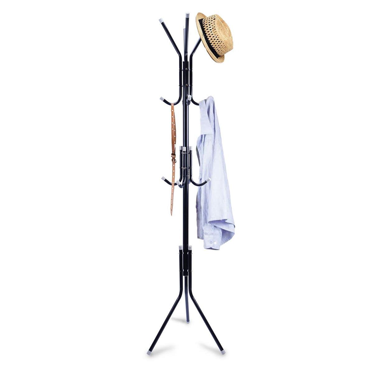 8 Hooks Metal Stand Coat Rack Tree Hat Jacket Umbrella Hanger Holder Stora