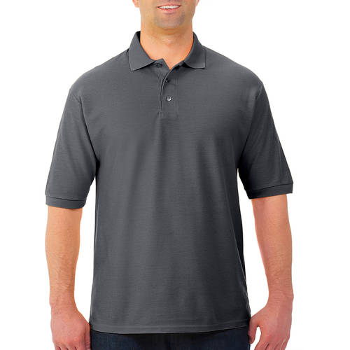 Jerzees Big Mens Easy Care Short Sleeve Polo Sport Shirt with Wicking