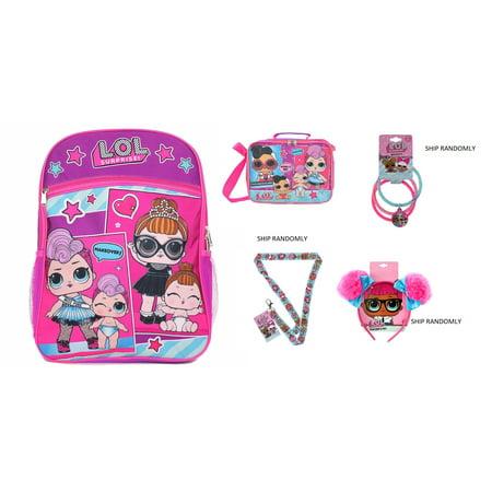 Gift Set 5 Items Essentials Set L.O.L Surprise! Large School LOL Backpack 16