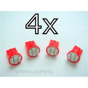 SmallAutoParts Red T10 8-Smd Led Bulbs - Set Of 4
