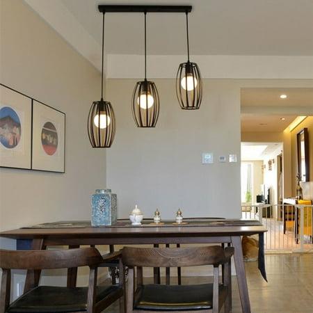 Moaere Retro Vintage Black Pendant Light Chandelier Lighting Kitchen Bar  Ceiling Lamp