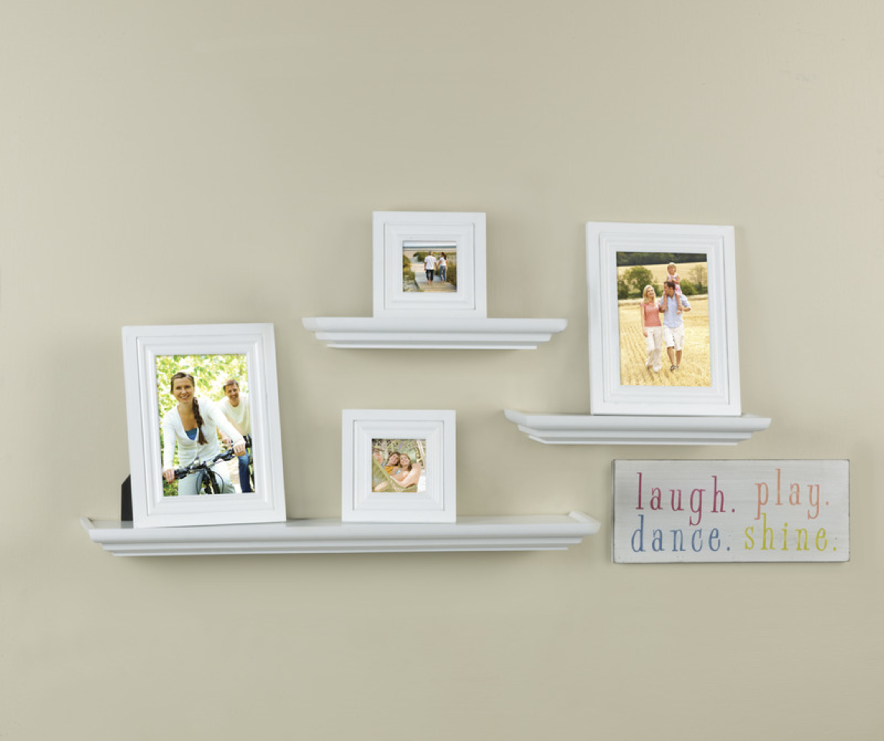 Melannco 8-Piece Shelf and Picture Frame Set, White - Walmart.com