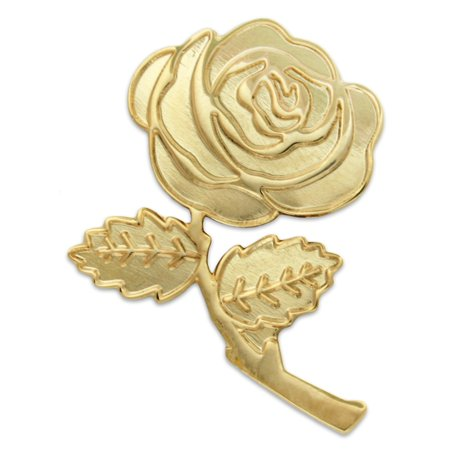 Gold Plated Rose Flower Lapel Pin 1