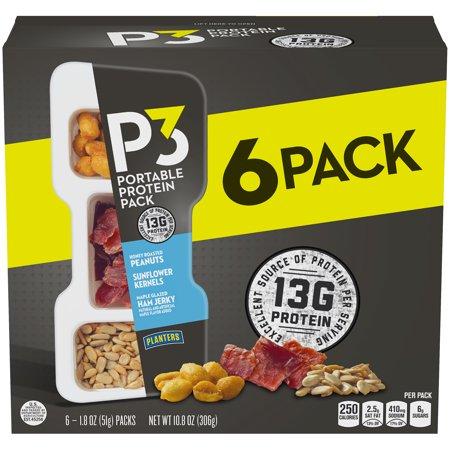 Planters P3 Honey Roasted Peanuts, Maple Glazed Ham Jerky ... on peanut m & m's nutritional information, coca-cola nutritional information, capri sun nutritional information,