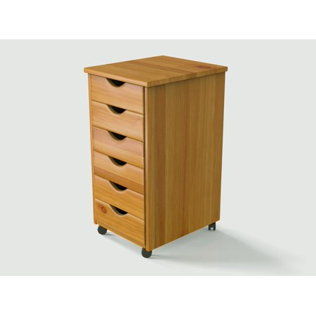 Image of Wood Rolling Drawers-6 Drawer
