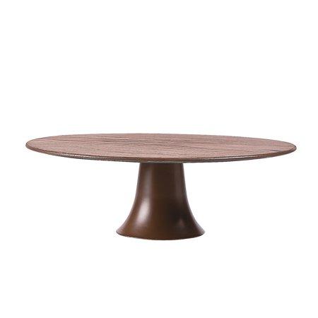 Fun Express - Wood Pattern Round Cake Plate 11.5in for Wedding - Party Supplies - Serveware & Barware - Serving Platters - Wedding - 1 Piece
