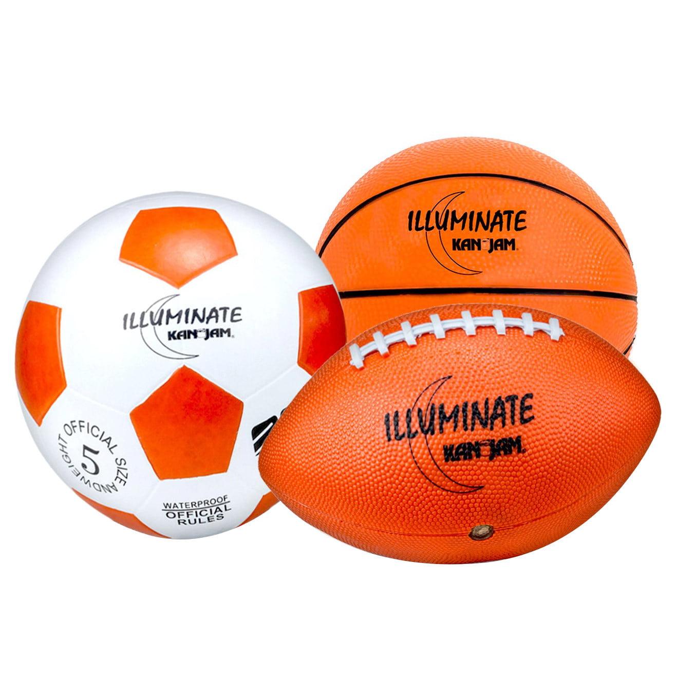 Kan Jam Illuminate Ultra Bright LED Sport Ball Bundle Pack