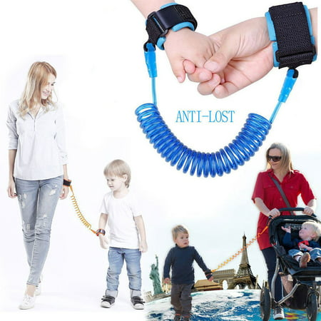 Toddler Harness anti lost wristband, Anti Lost Belt Wrist Safe Link Wrist Straps for Babies, Soft Baby Leash Outdoor Safety Hook for Babies Kids Toddlers Runners (2.5m, Blue)