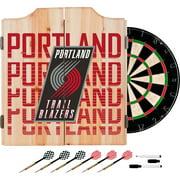 NBA Dart Cabinet Set with Darts and Board - City - Portland Trailblazers