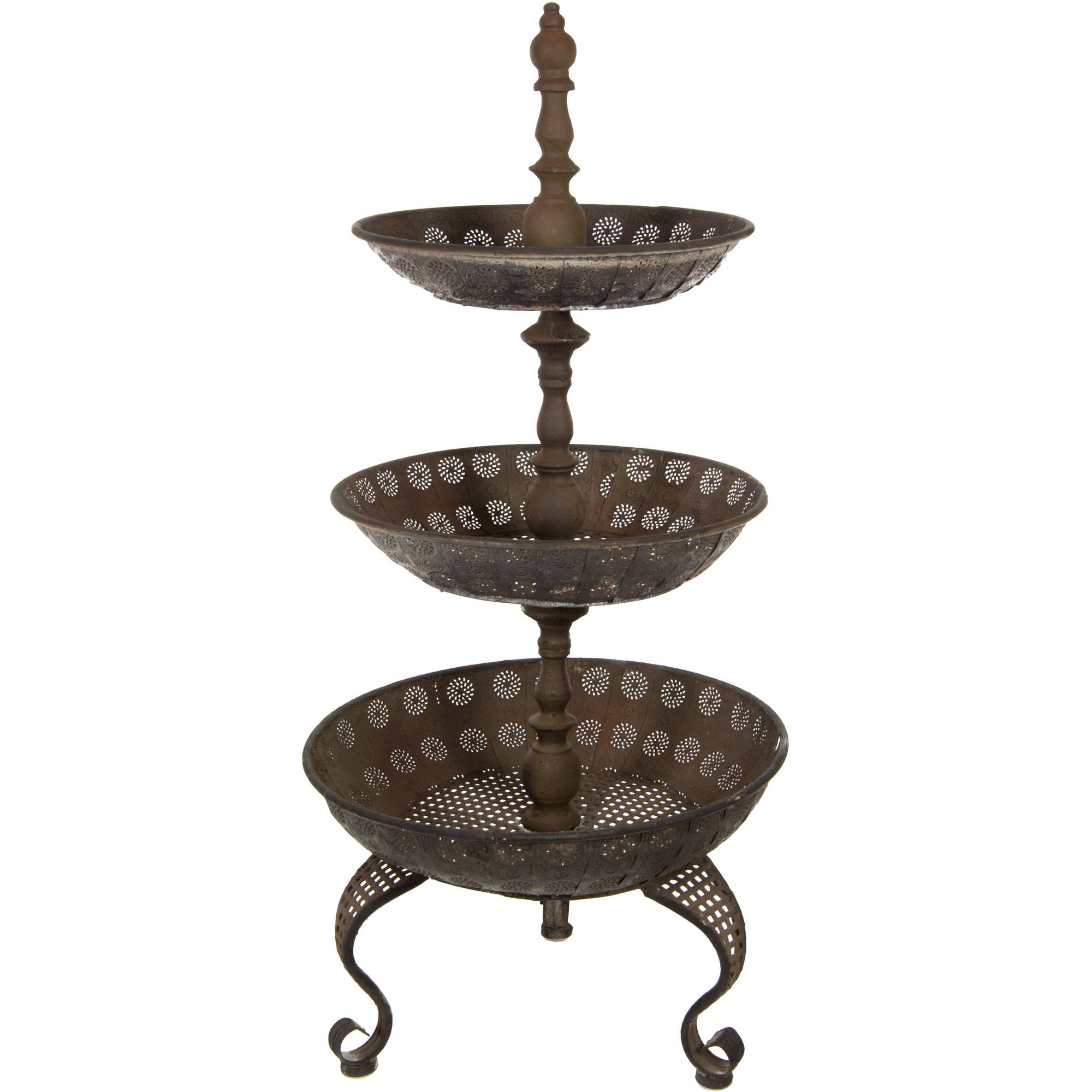 3 Tier Iron Tray Display Stand