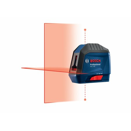 Bosch GCL 2-55 VisiMax 40-Foot Red Beam Cross-line Self-Leveling Laser Level with Plumb Points (New Open (Best Laser Plumbs)
