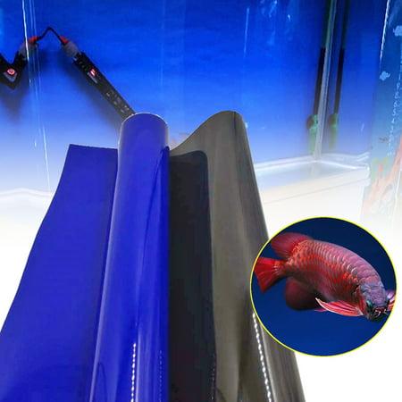 "590""x24"" Aquarium Double Sided Blue Black Poster Background Fish Tank Decoration - image 6 of 6"
