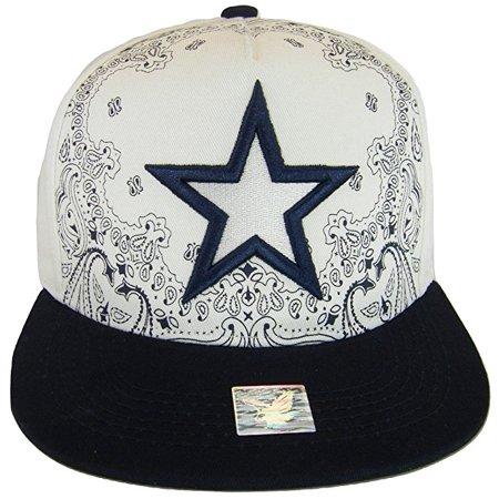 Dallas Texas Large Star Cotton Adjustable Snapback Baseball Cap (Swirl White/Navy) (Adjustable Swirl)