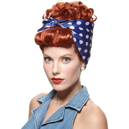 Red Wig Rivetor Adult Halloween - Cheap Red Wig