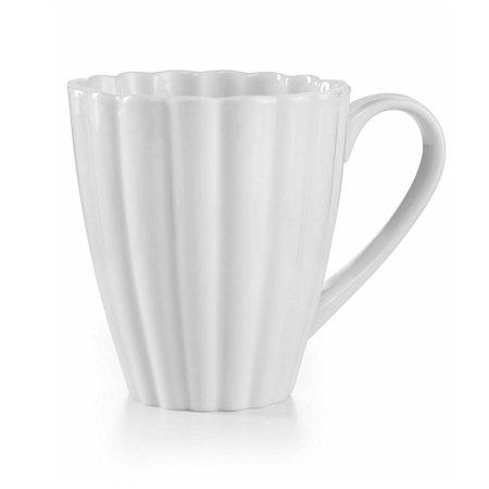 Martha Stewart Collection Whiteware Fleur Mug Martha Stewart Glass Mug