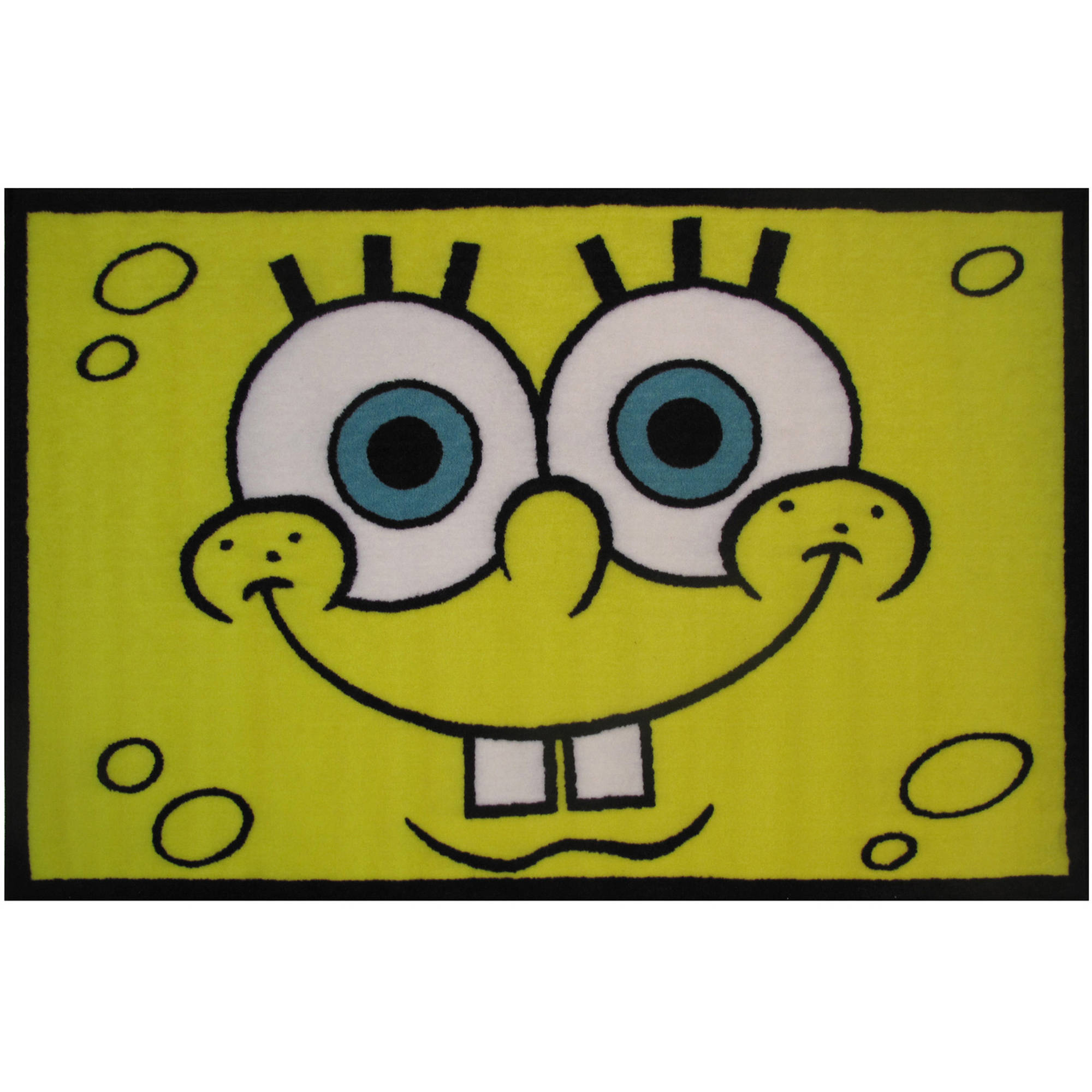 "Fun Rugs Nickelodeon  Spongebob Head Kids Rugs 19"" x 29"" Rug"