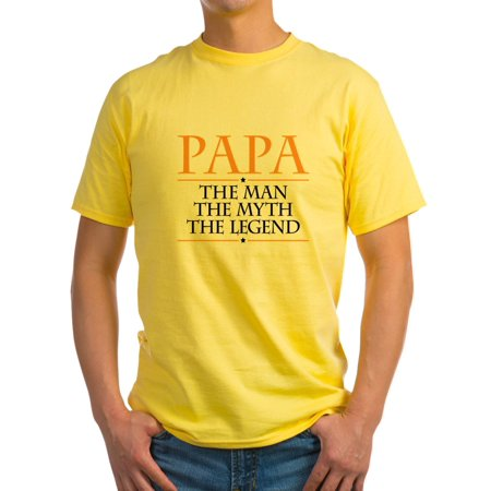 CafePress - Papa Man Myth Legend T Shirt - Light T-Shirt - CP