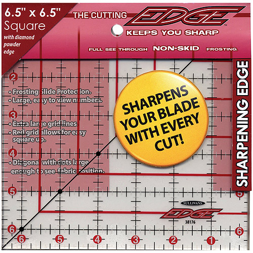 "Sullivans International The Cutting Edge Frosted Ruler, 6-1/2"" x 6-1/2"""