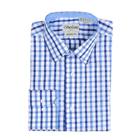 Checkered Shift (Berlioni Italy Men's & Boy's Father & Son Checkered Plaid Dress)