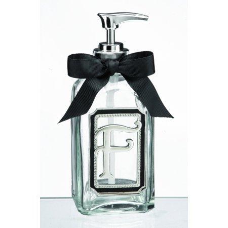 - Letter F Initial Liquid Soap Bottle Dispenser by Ganz