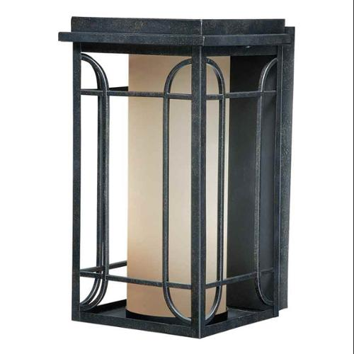 8 in. Outdoor Wall Light in Gold Stone