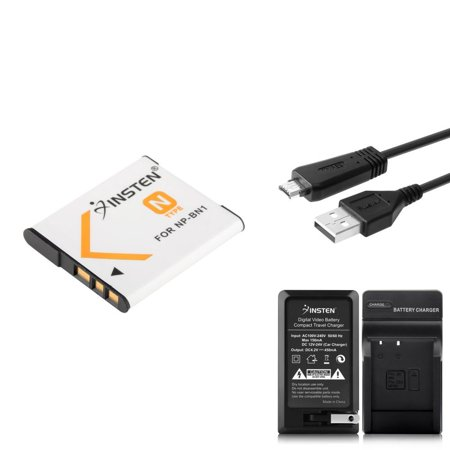 Insten For Sony CyberShot DSC-W570 DSC-WX5 DSC-WX9 DSC-WX10 VMC-MD3 USB Cable + NP-BN1 Battery + AC Wall/Car Charger (Sony Bp Battery Charger)