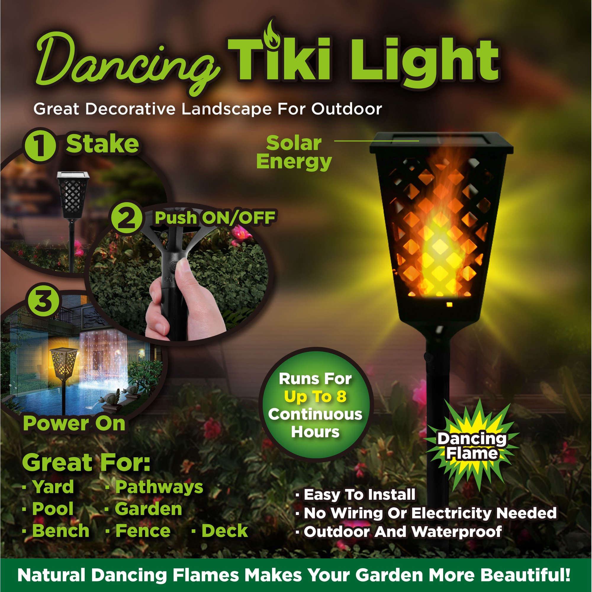 As Seen On Tv Dancing Tiki Torch Light