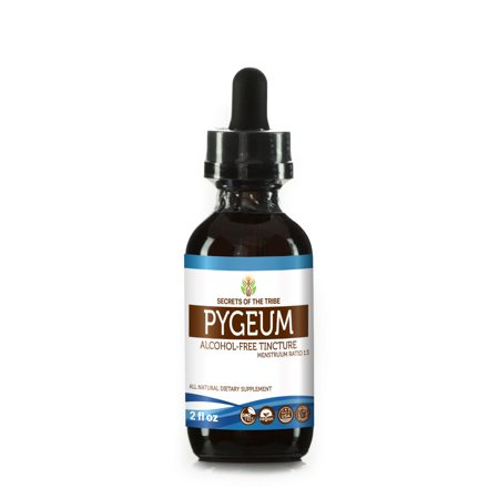 Pygeum Tincture Alcohol-FREE Extract, Wildcrafted Pygeum Africanum Overall Health and Wellness 2 oz