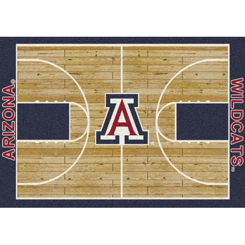 Milliken Ncaa College Home Court Area Rugs - Contemporary 01260 Ncaa College Basketball Sports Novelty Rug