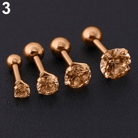 71c296bcd Heepo - Heepo Men Women Rhinestone Cartilage Tragus Bar Helix Upper Ear  Earring Stud Jewelry - Walmart.com