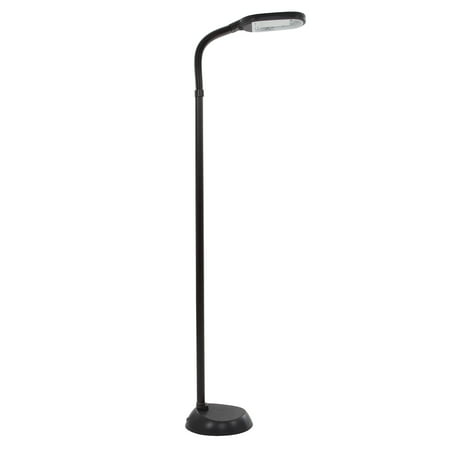 Natural Full Spectrum Sunlight Reading Floor Lamp by Lavish Home (Black) - Adjustable Gooseneck