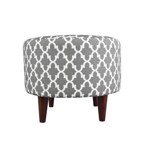 MJL Furniture Sophia Fulton Round Ottoman