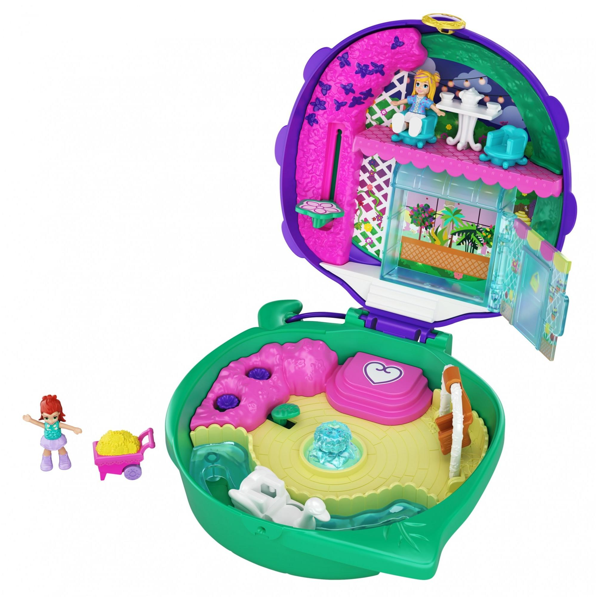 Alien Figure /& Sticker Sheet; for Ages 4 Years Old /& Up Lunar Vehicle Polly Pocket Saturn Space Explorer Compact with Fun Reveals Micro Polly and Lila Dolls