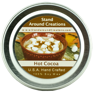 858 Natural - HOT COCOA TIN 2-OZ. ALL NATURAL SOY CANDLE