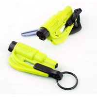 Resqme Pack of 2, The Original Emergency Keychain Car Escape Tool, 2-in-1 Seatbelt Cutter and Window Breaker, Safety Yellow