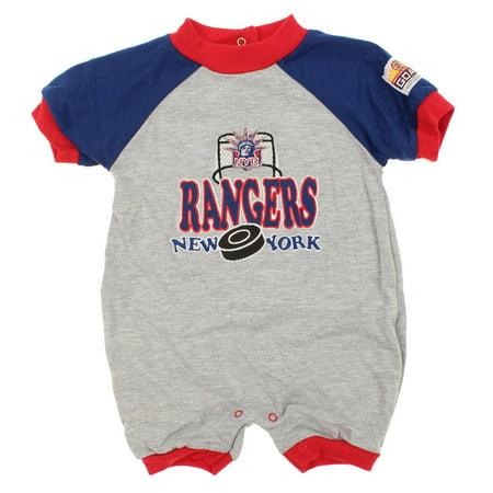 NHL Infant New York Rangers Puck & Net Retro Romper, (New York Rangers Autograph Puck)